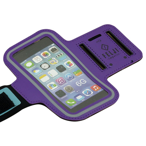 Felji Small Purple Sport Case Bag for Cellphone iPhone 6 6S 7 8 Samsung Galaxy