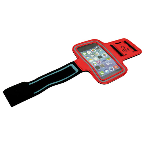 Felji Small Red Sport Case Bag for Cellphone iPhone 6 6S 7 8 Samsung Galaxy