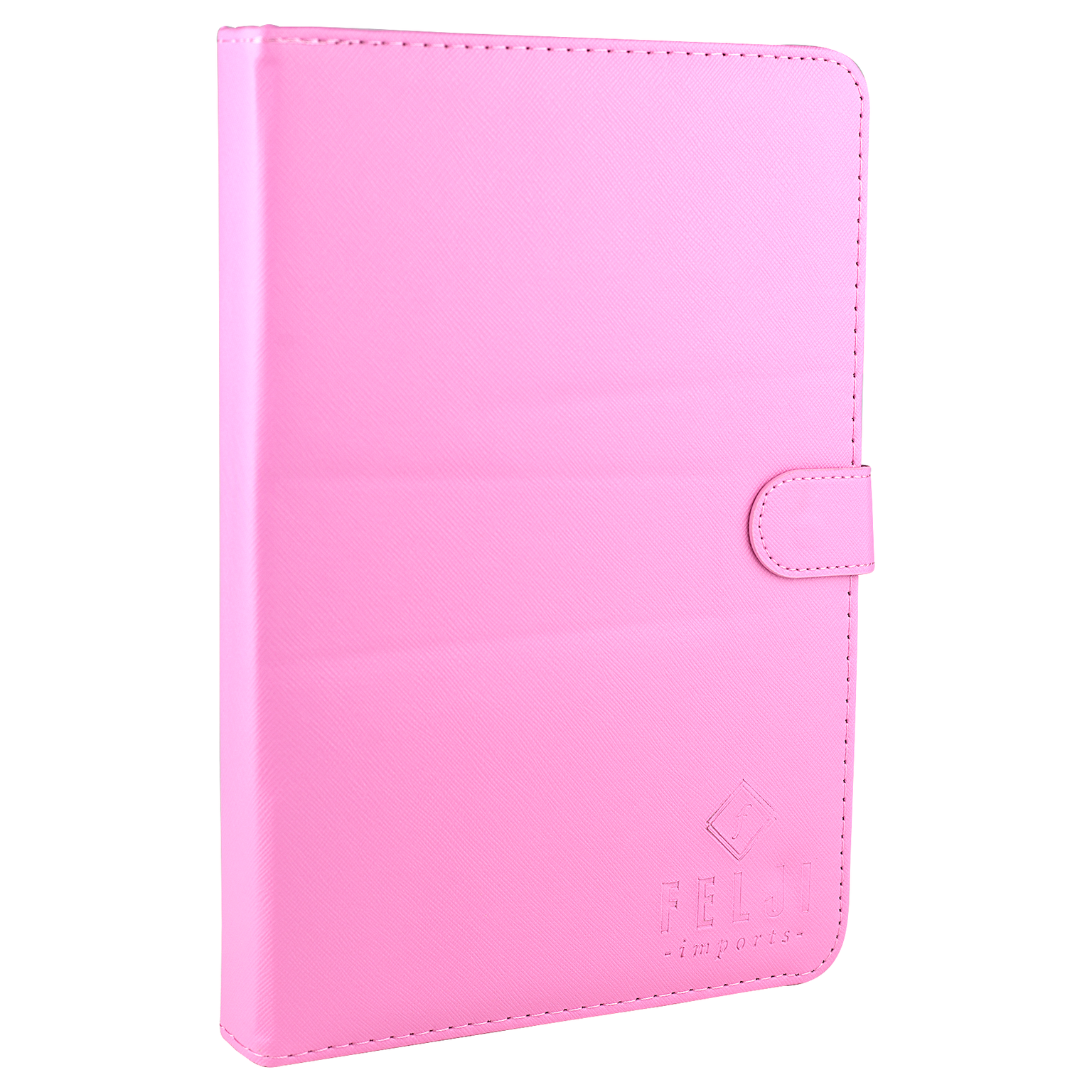 Felji Pink Stand Leather Case Cover for Android Tablet 7-Inch Universal w/ USB Keyboard
