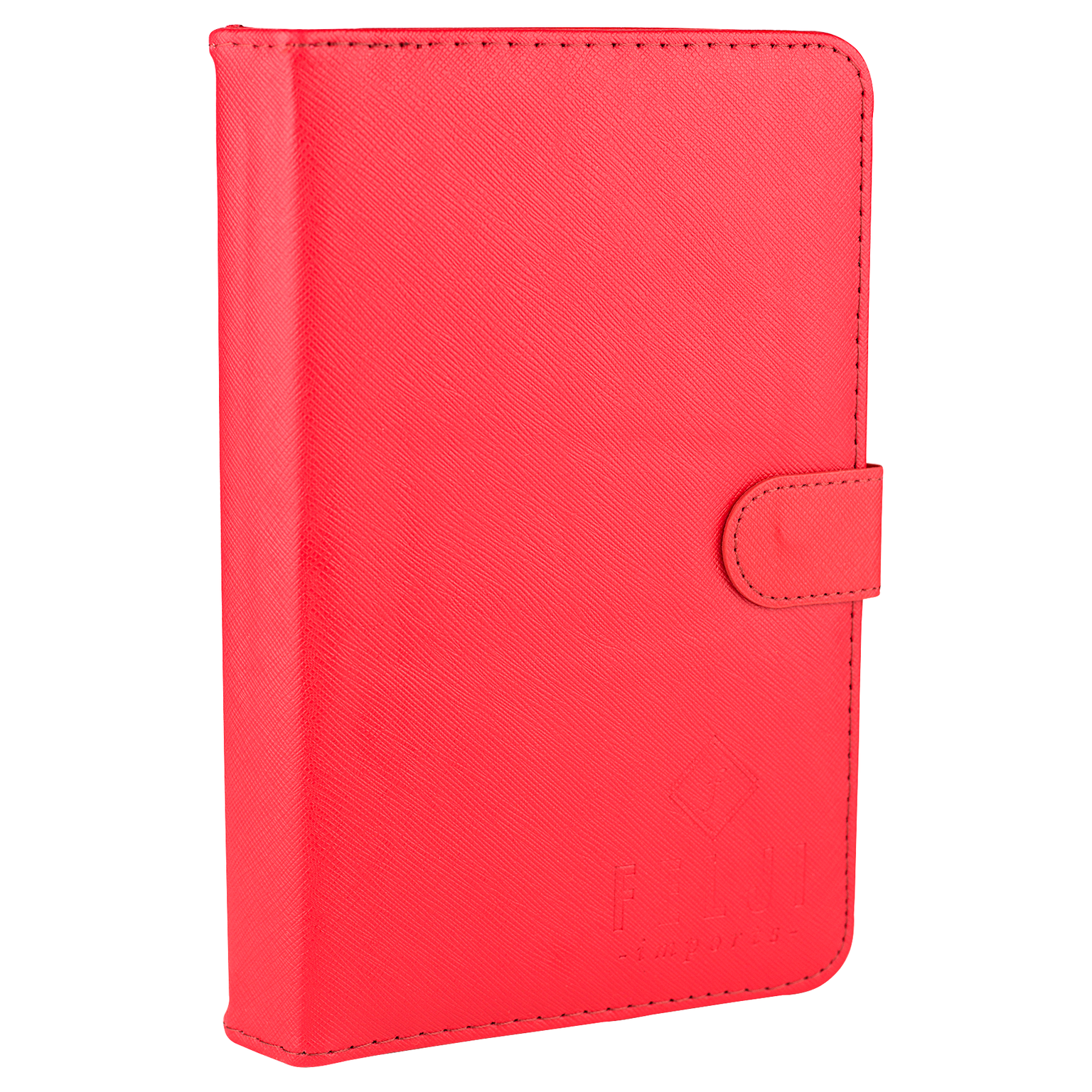 Felji Red Stand Leather Case Cover for Android Tablet 7-Inch Universal w/ USB Keyboard