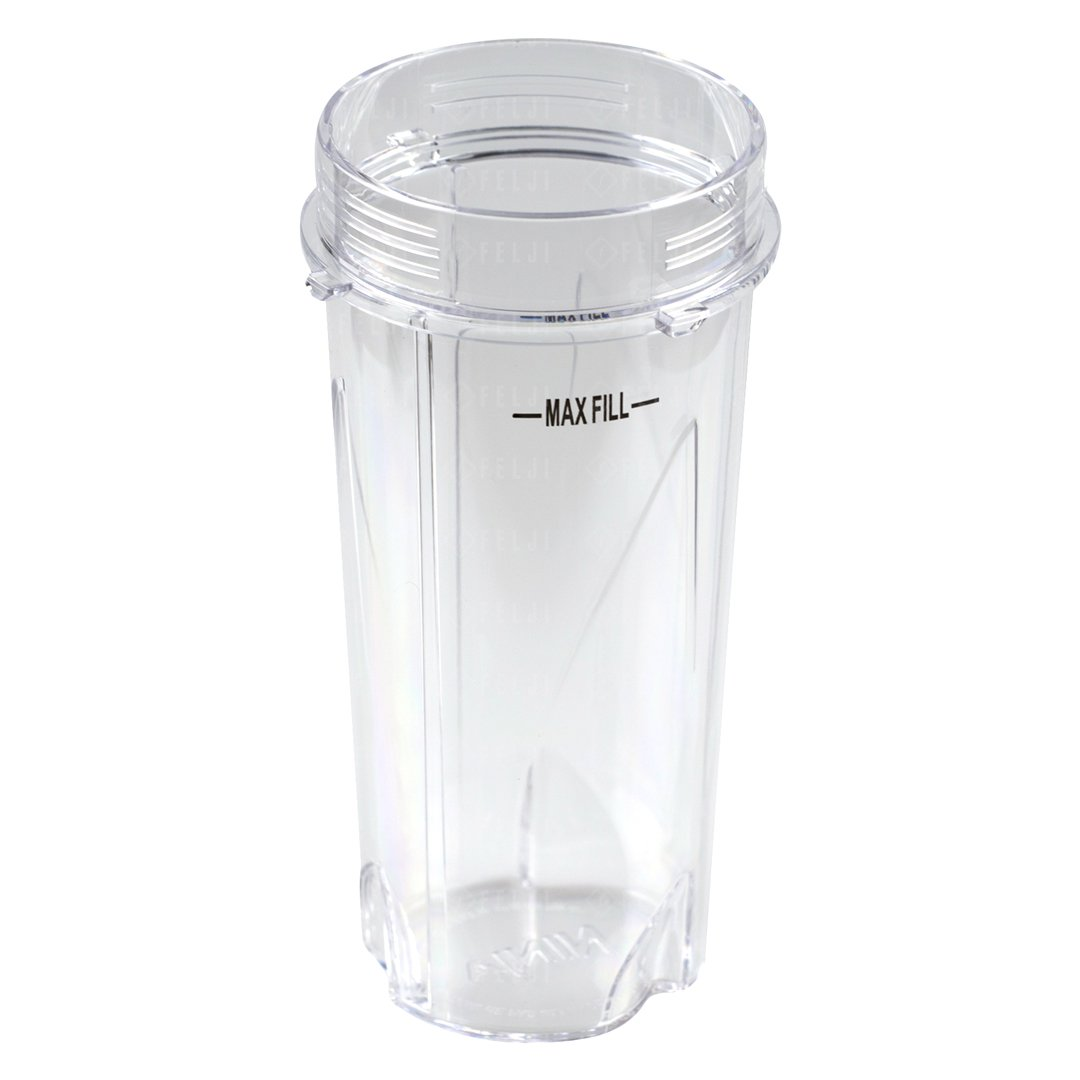 2 Nutri Ninja 16 oz Cups with To-Go Lids Replacement Model 303KKU for BL660 BL663 BL663CO BL665Q BL740 BL780 BL810 BL820 BL830