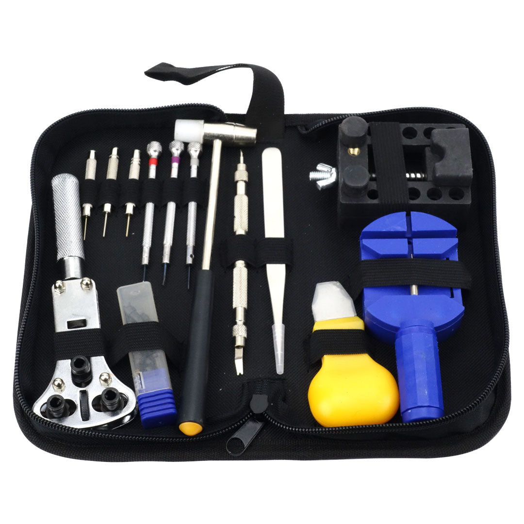 Felji Watch Repair Tool Kit Opener Link Remover with Carrying Case and Free Hammer