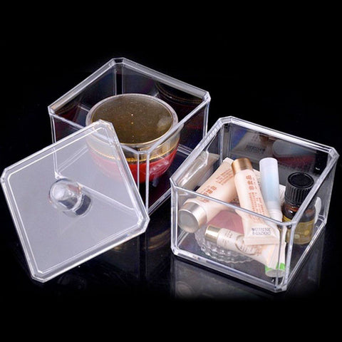 Felji Small Acrylic Jewelry & Makeup Box with Lid Stackable 1182
