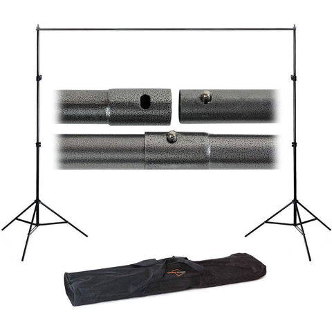 Felji 10ft Adjustable Background Support Stand Photo Backdrop Crossbar Kit Photography