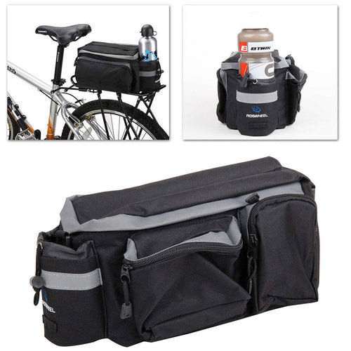 Felji Cycling Bicycle Bike Storage Pannier Saddle Rack Rear Seat Bag Shoulder Handbag