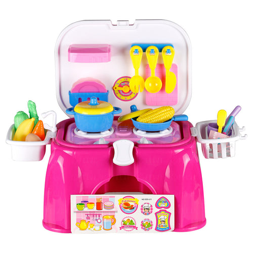 Felji Kids Toy Pretend Kitchen Cooking Playset with Lights & Sounds