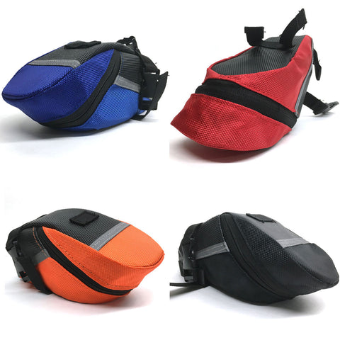 Felji Outdoor Bike Bicycle Cycling Saddle Bag Tail Rear Pouch Strap-On Seat Storage Bag