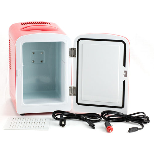 Felji Portable Mini Fridge Cooler and Warmer 4L AC & DC Red