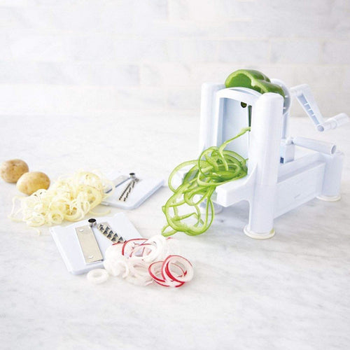 Felji Tri-Blade Plastic Spiral Vegetable Slicer Pasta Maker Spiralizer Cutter