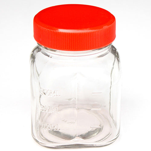 Oster 8 Oz Glass Mini Jar With Lid for Oster & Osterizer Blenders-Red