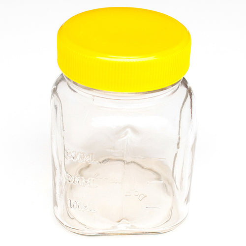 Oster 8 Oz Glass Mini Jar With Lid for Oster & Osterizer Blenders-Yellow