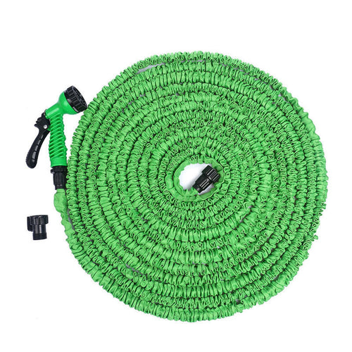 Felji 25 ft Expandable Garden Water Hose with Green Gun