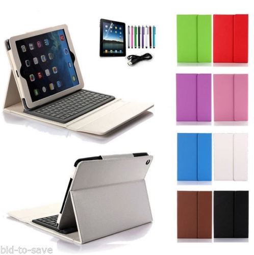 Felji iPad 2 3 4 Retina Stand Leather Case Cover Bluetooth Keyboard