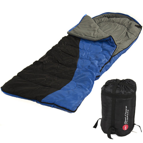 "Single Sleeping Bag 23F -5C Camping Hiking 84x55"" with Case"""