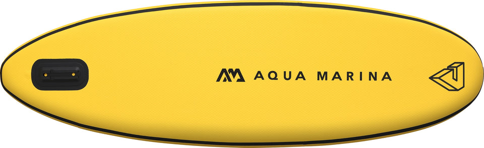 Aqua Marina Vibrant BT-19VIP Bottom of Yellow Inflatable Paddleboard, iSUP