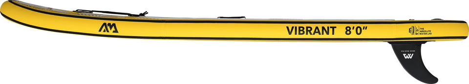 Aqua Marina Vibrant BT-19VIP Side view of Yellow Inflatable Paddleboard, iSUP
