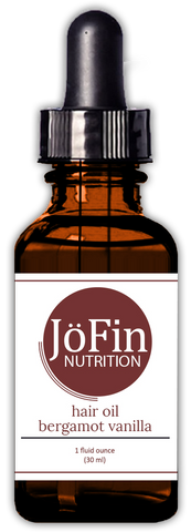 Hair Oil - Bergamot Vanilla  (1 oz.) - JöFin Nutrition