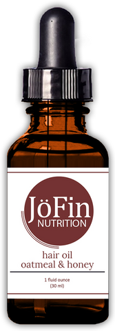 Hair Oil - Oatmeal & Honey  (1 oz.) - JöFin Nutrition