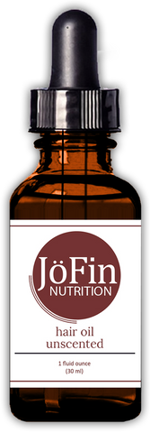 Hair Oil - Unscented  (1 oz.) - JöFin Nutrition