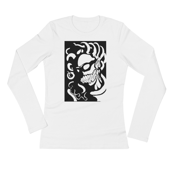 The Madame In Monochrome Ladies' Long Sleeve T-Shirt