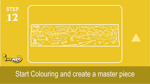 Step 12: Start colouring and create a masterpiece