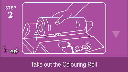 Step 2: Take out the colouring roll