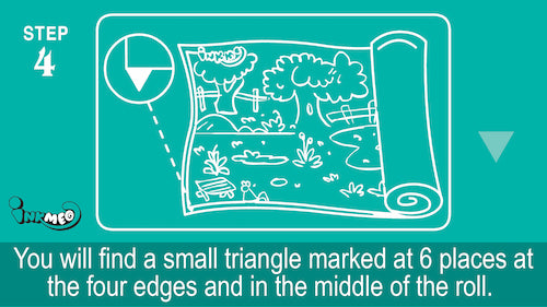 Step 4: Find the triangles marked at 6 places