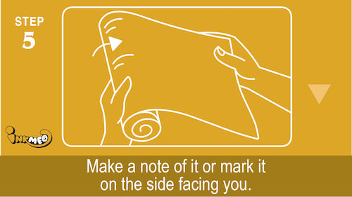 Step 5: Make a note of it or mark it on the side facing you