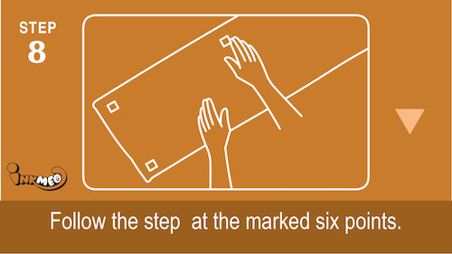 Step 8: Follow the steps at the marked 6 points