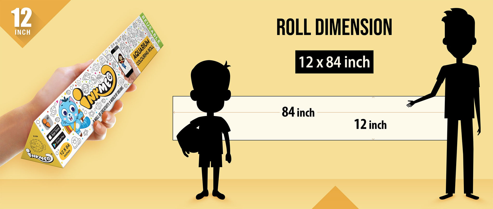 12 Inch Roll Dimension