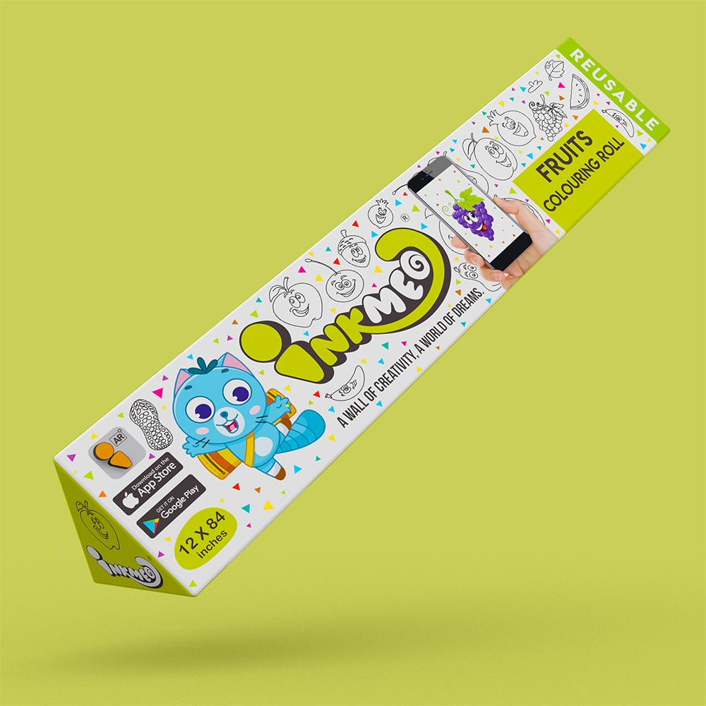 Fruits Colouring Roll (12 inch) - Inkmeo