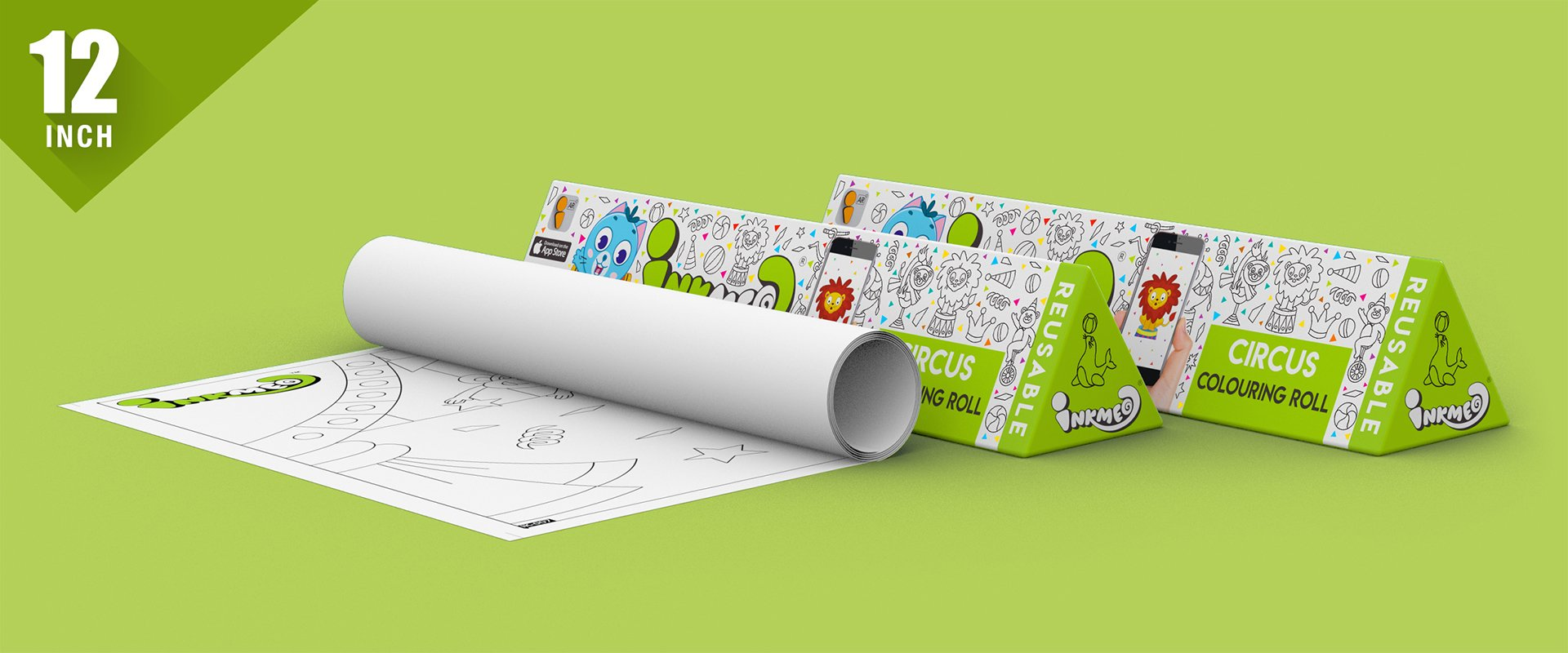 Circus Colouring Roll (12 inch) - Inkmeo