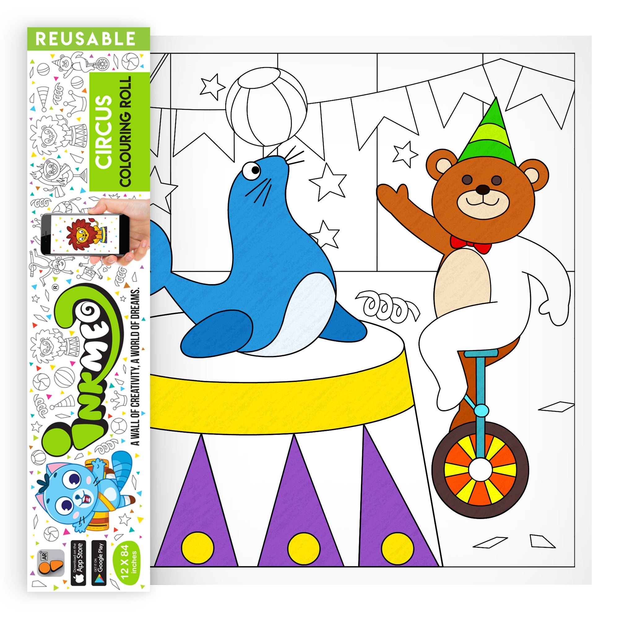 Circus Colouring Roll (12 inch)