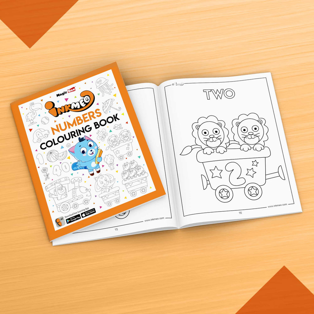 Numbers Colouring Book - Inkmeo