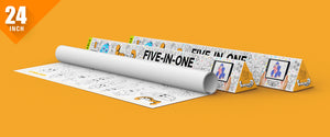Five in One Colouring Roll ( 24 inch) - Inkmeo