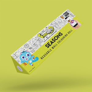 Seasons Colouring Roll (6 inch) - Inkmeo