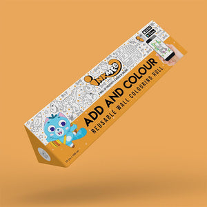 Add and Colour Colouring Roll (6 inch) - Inkmeo