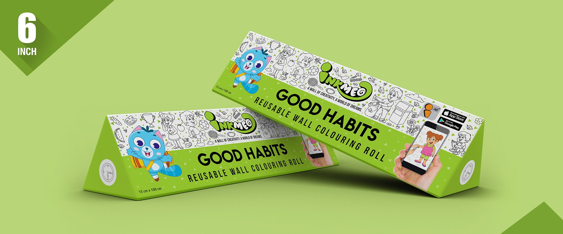Good Habits Colouring Roll (6 inch)