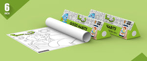 Good Habits Colouring Roll (6 inch) - Inkmeo