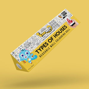 Types of Houses Colouring Roll (6 inch) - Inkmeo