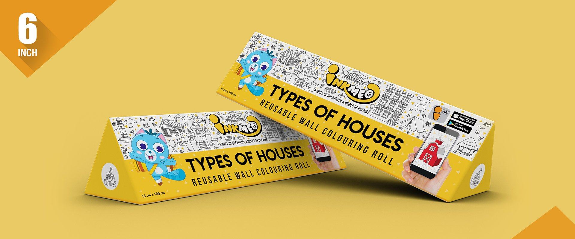 Types of Houses Colouring Roll (6 inch)
