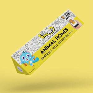 Animal Homes Colouring Roll (6 inch) - Inkmeo