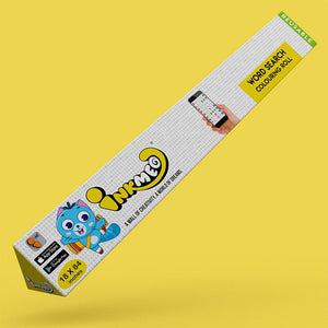 Word Search Reusable Colouring Roll (18 inch) - Inkmeo