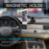 Car Dashboard Mount Long Magnetic Phone Holder Universal 360° Mounting Plate-Dr Phonez