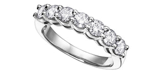 18K White Gold Palladium Claw Set Diamond Band