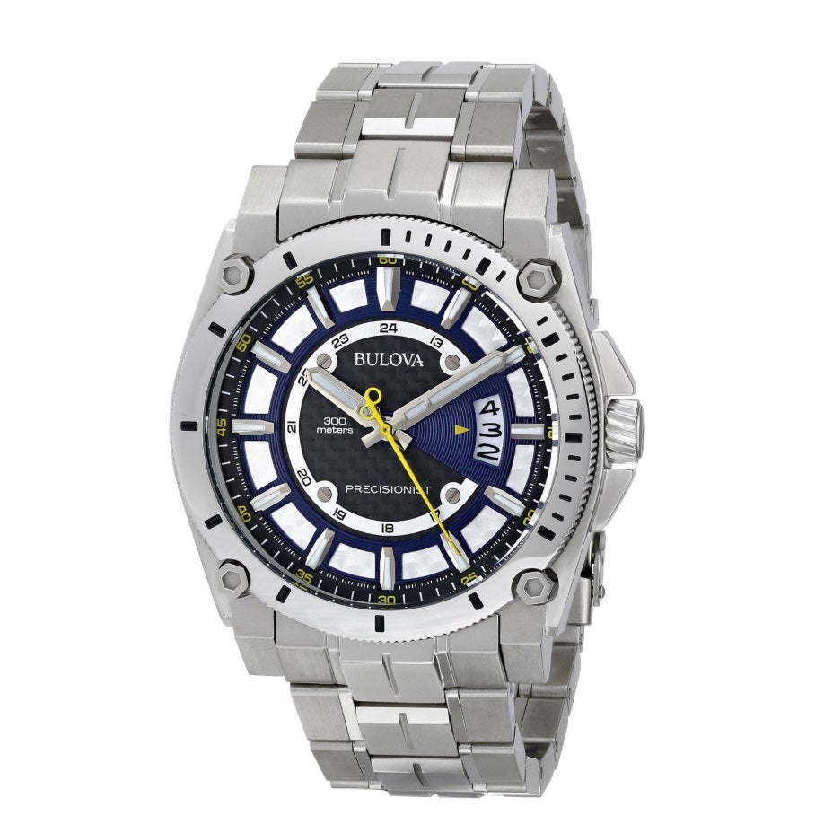 "Bulova ""Precisionist"" Stainless Steel Watch"