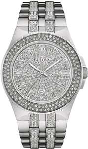 Bulova Swarovski Crystal Stainless Steel Watch