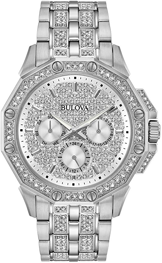 Bulova Crystal Accent Silver Tone Watch