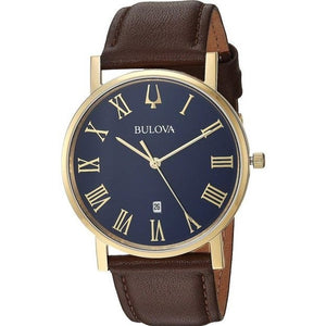 Bulova Classic Style Watch with Brown Leather Strap