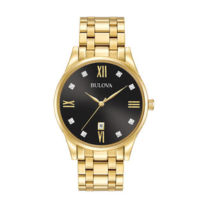 Bulova Gold Tone Diamond Accent Watch